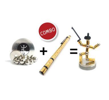 combo-caneta-magnetica-polar-pen-stylus-gold-kit-esferas-aco