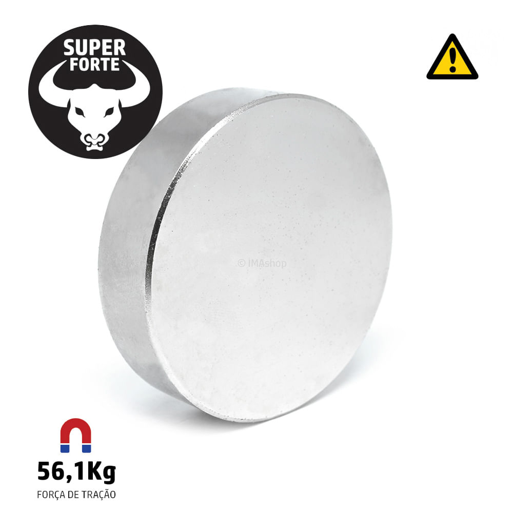 a3dc0b6cab4 Super Ímã de Neodímio Disco 60x15 mm - IMAshop - ImaShop
